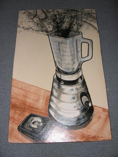 "Blender | Marcia Gibbons | 23""h x 14""w Tile"