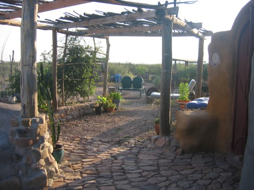 Adding to the outdoor living space, natural local stone makes a beautiful patio.
